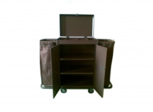 Room Corridor Cart - Size: 1,420 x 460 x 1,200 mm - Material: Steel Paint