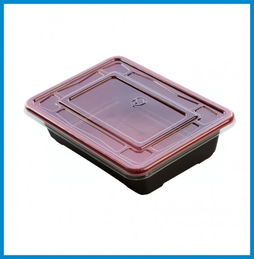 """Bento Boxes - Rectangular with lid ( 7"""" x 5"""" x1.75"""" ) -for 800 pcs/case"""