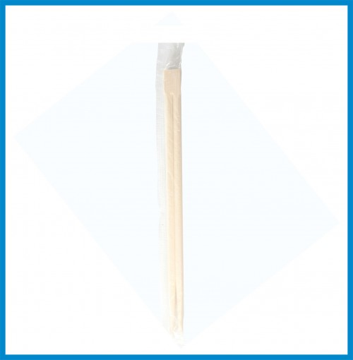 Bamboo Chopstick 21cm with wrapper in plastic - 3,000 pcs/case