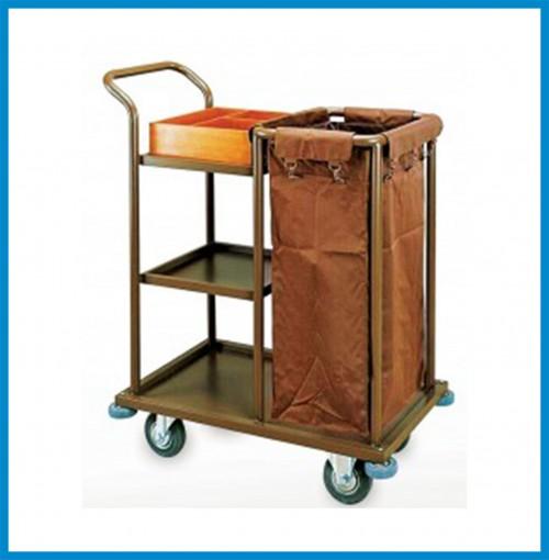 Room Corridor Cart - Size: 800 x 460 x 1,100 mm - Material: Steel Paint
