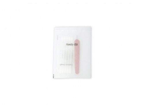 Vanity Kit in Eva Plastic - 1 Cotton buds (5's) 1 Emery board