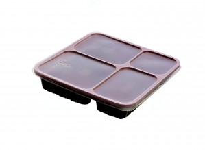"Bento Boxes - 4 Compartment Bento Box with lid ( 9"" x 8"" x 1.63"" ) - for 500 pcs/case"