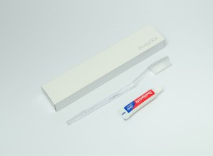 Dental Kit in Box- 1 Toothbrush Transparent Diamond and 1 toothpaste Tube  8ml