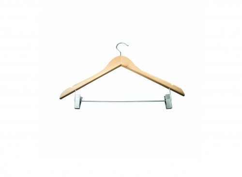 Wardrobe Accessories - Wooden Hanger with Clip