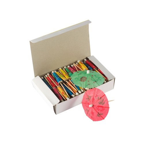 Toothpick  (Cocktail) Umbrella - 144's x 100 pack (14,000 pcs/case)