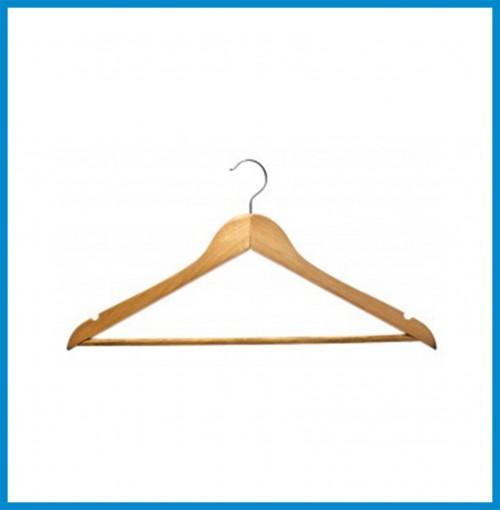 Wardrobe Accessories - Wooden Hanger Plain