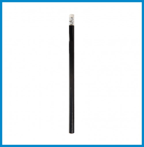 PENCIL - Black (Round Hexagonal) with Eraser
