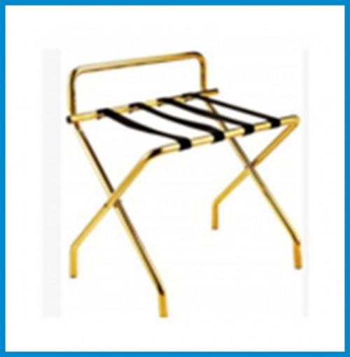 Luggage Rack - Size : L600*W460*H680  Material :Stainless  Color :Gold color