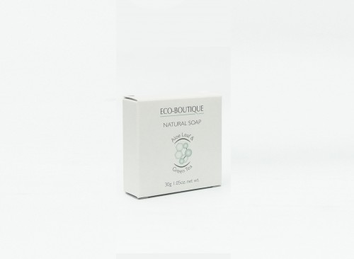 Eco Boutique Aloe Leaf & Green Tea -  30 g Boxed Soap