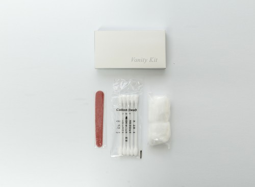 Vanity Kit in Box - 1 Cotton buds (5's) 2 Cotton balls and 1 Emery Board