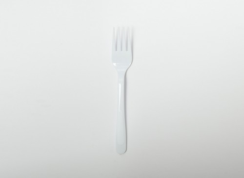 Disposable Fork-White Color